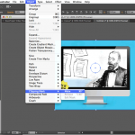 2) Create object clipping mask-make